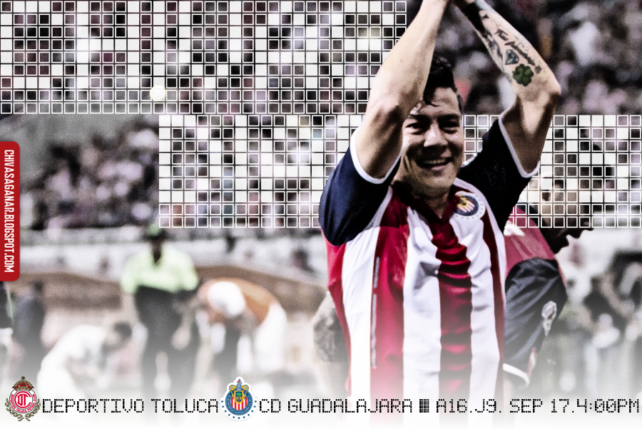 Liga MX : Deportivo Toluca FC vs CD Guadalajara - Apertura 2016 - Jornada 9.