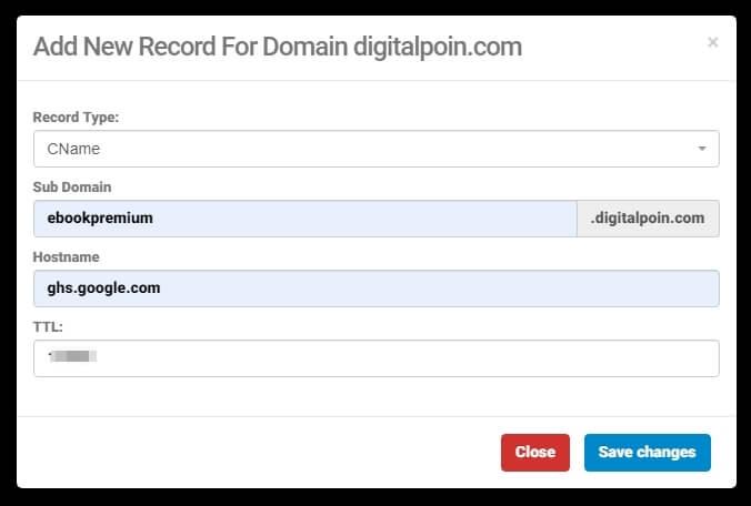 subdomain blog custom domain