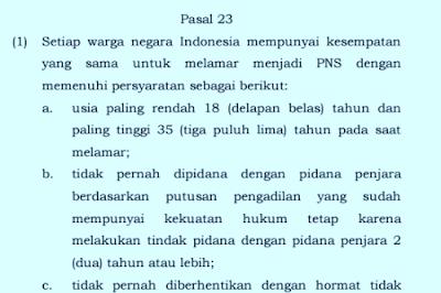 Pasal 23 PP Nomor 11 Tahun 2017