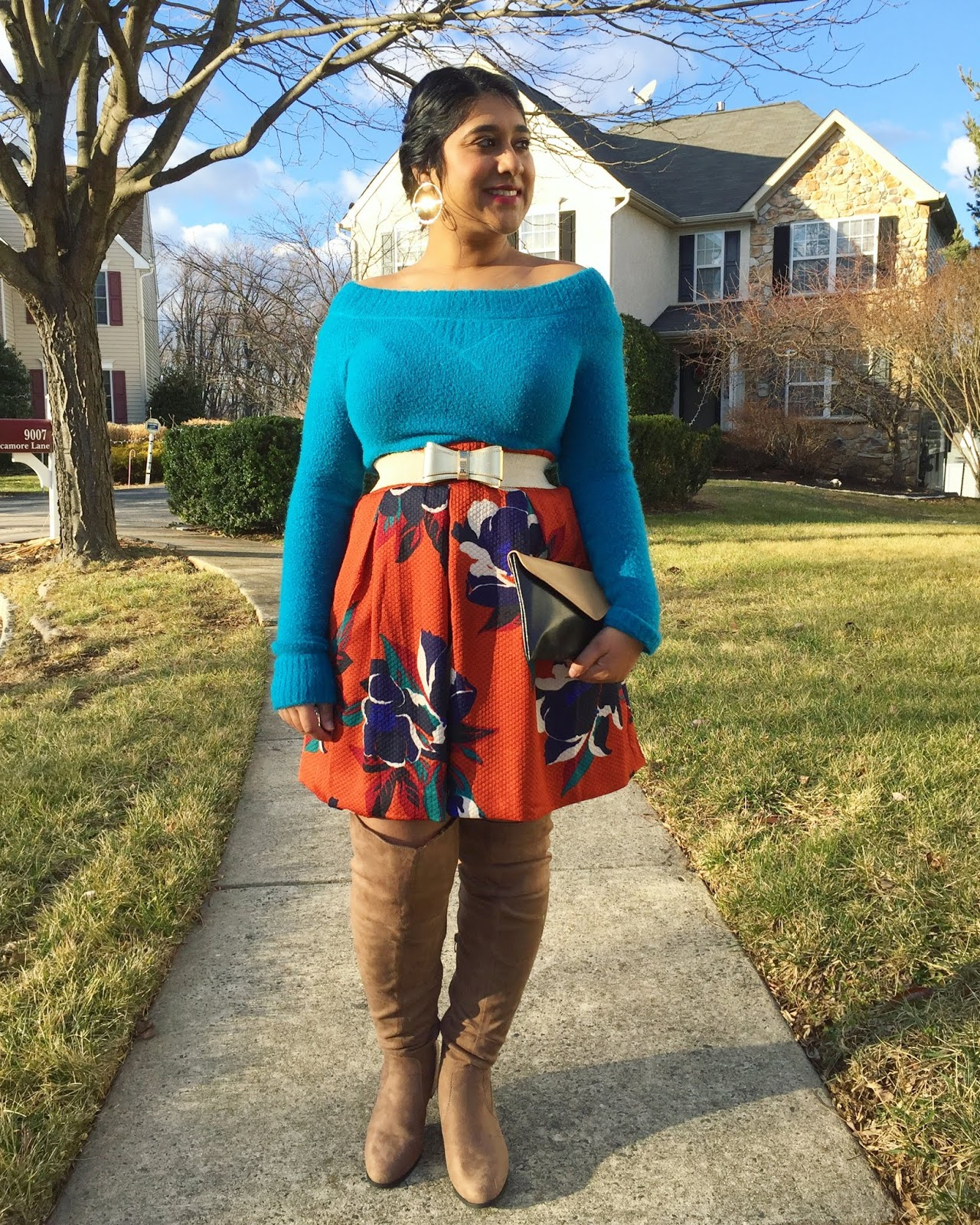 Anthropologie Floral Skirt For Fall