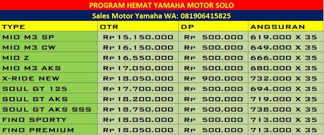 Promo DP Murah Motor Yamaha di Solo