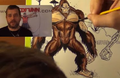 Skunk Ape Windego Drawing