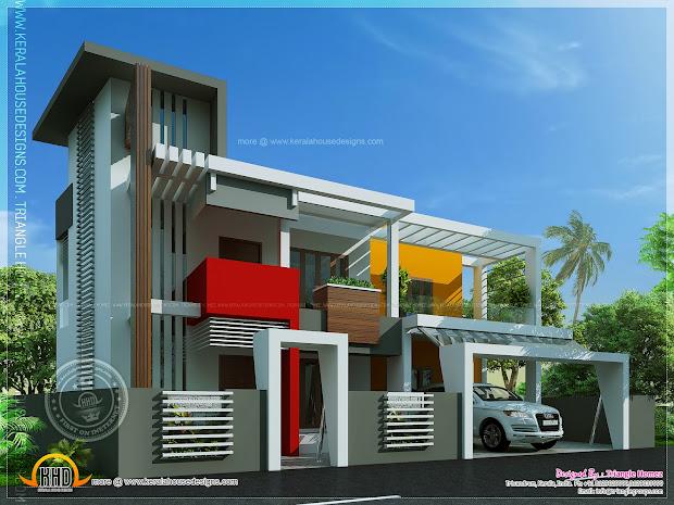 Contemporary House In Unique Design - Kerala Home