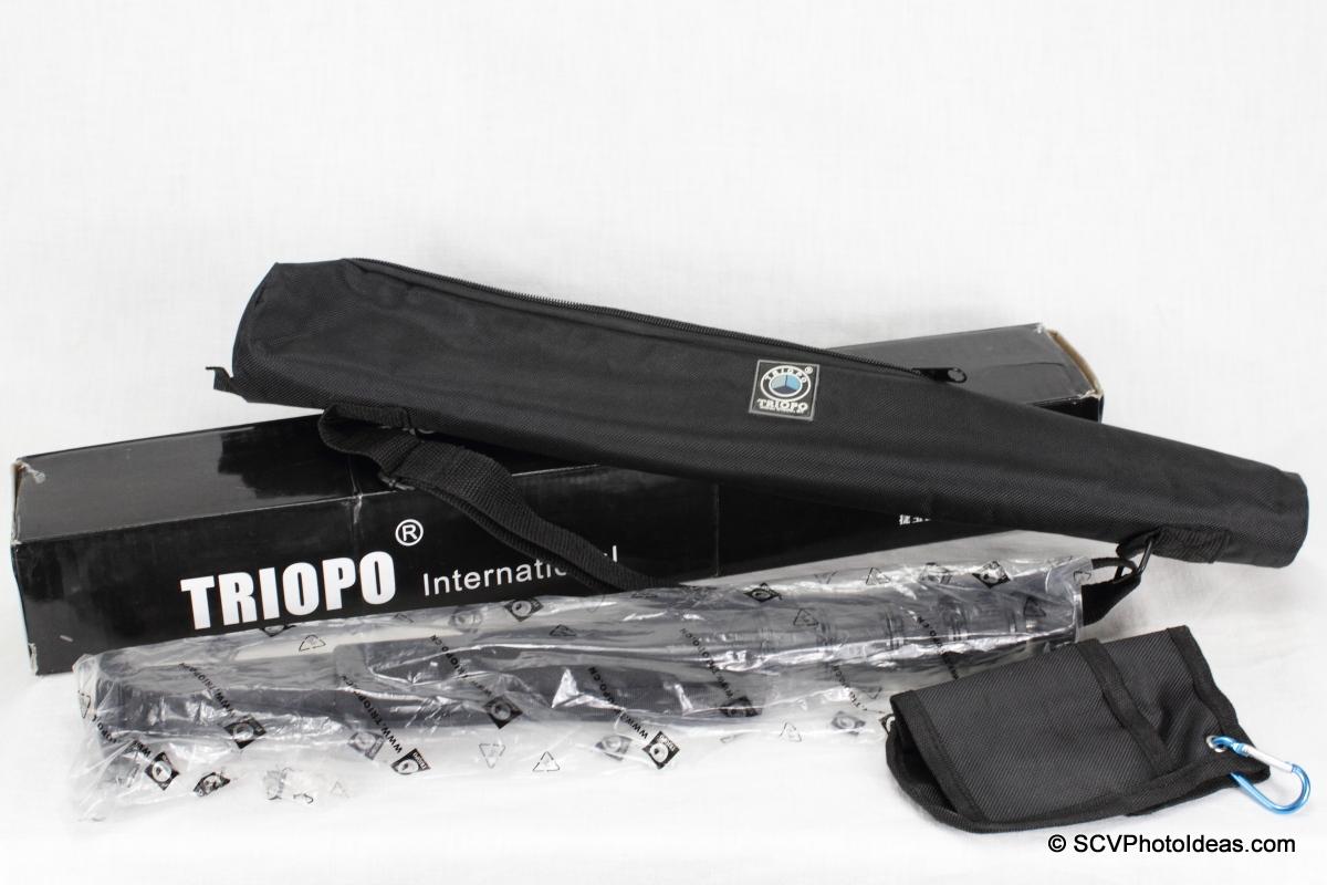 Triopo GL-70 Carbon Fiber Monopod - box contents
