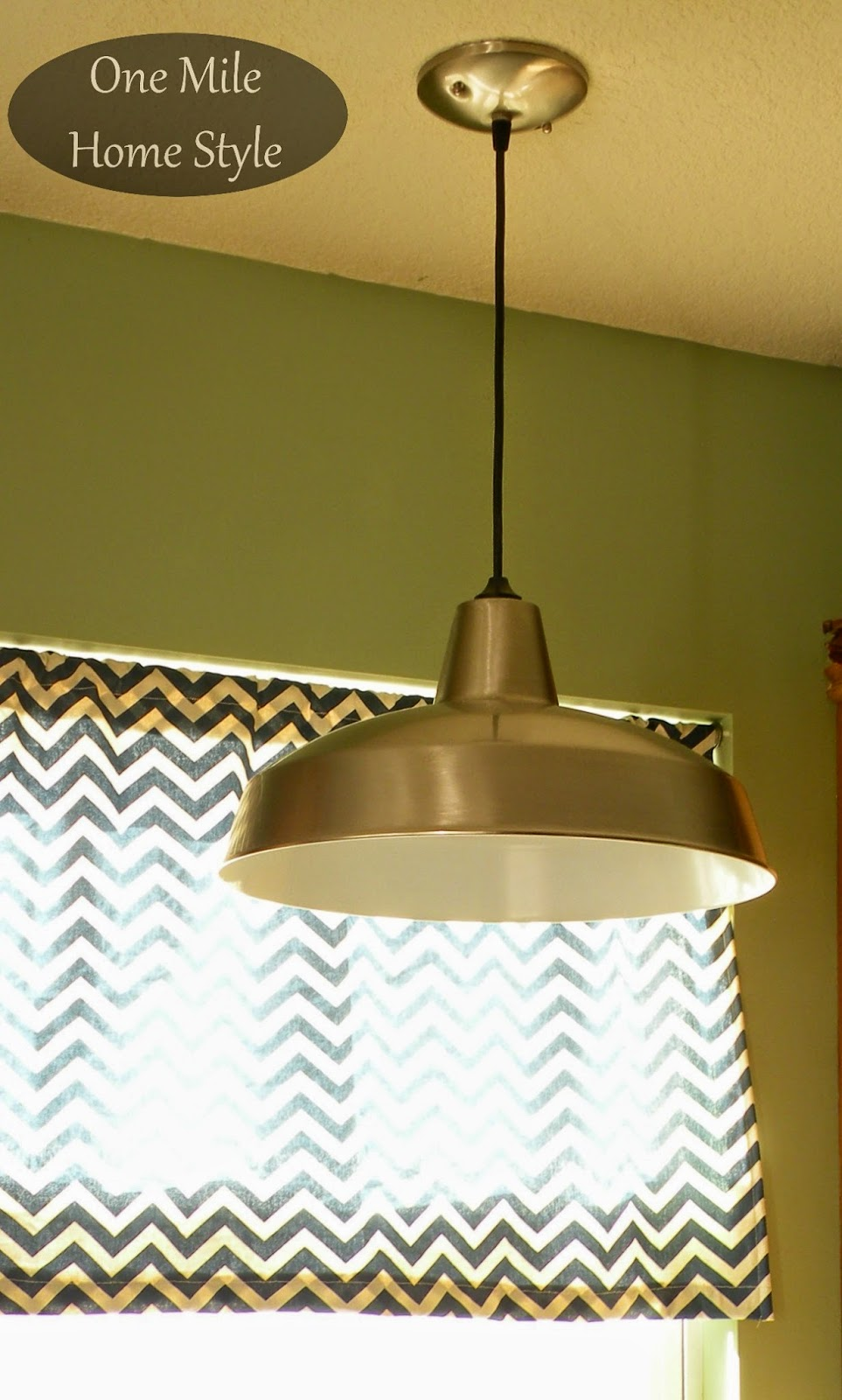 Kitchen Mini-Makeover - Warehouse pendant light