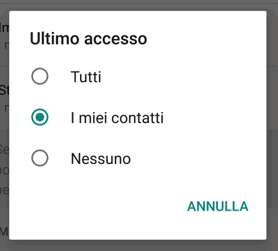 Come vedere l'ultimo accesso degli amici senza mostrare il proprio (whatsapp)
