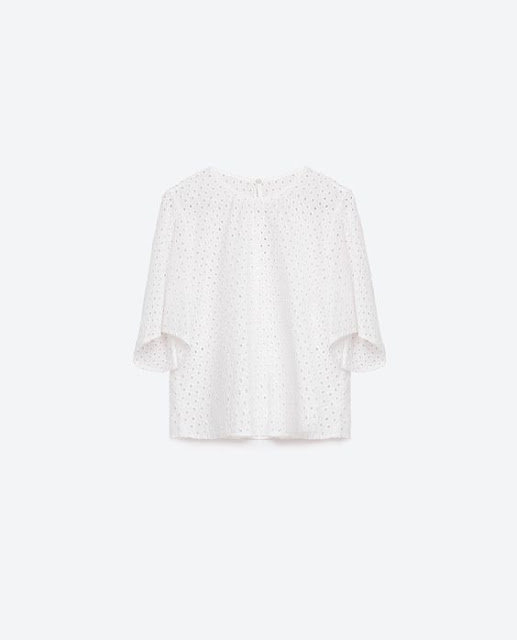Spring/Summer Capsule Wardrobe: Five Tops for Play from Honey and Smoke Studio // Embroidered Top in off-white from Zara