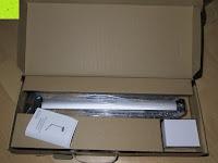 auspacken: CRECO 7W LED Tischlampe 5 Helligkeitsstufen 3 Modi dimmbar 270° drehbar Schreibtischlampe Schwarz [Energieklasse A+]