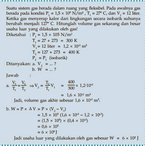 Termodinamika Usaha Luar W Dan Energi Dalam U