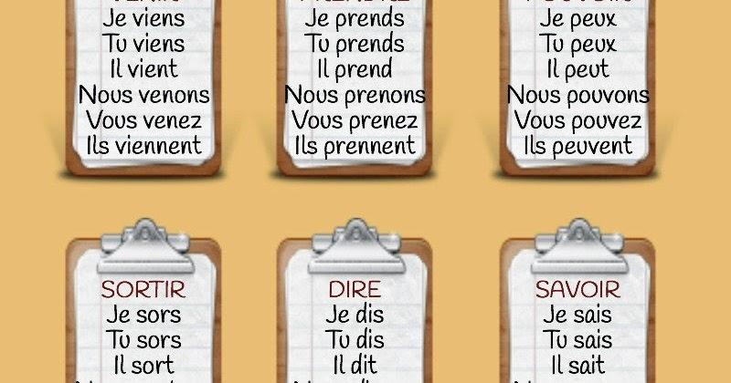 El Conde Fr Quelques Verbes Du 3eme Groupe A Reviser