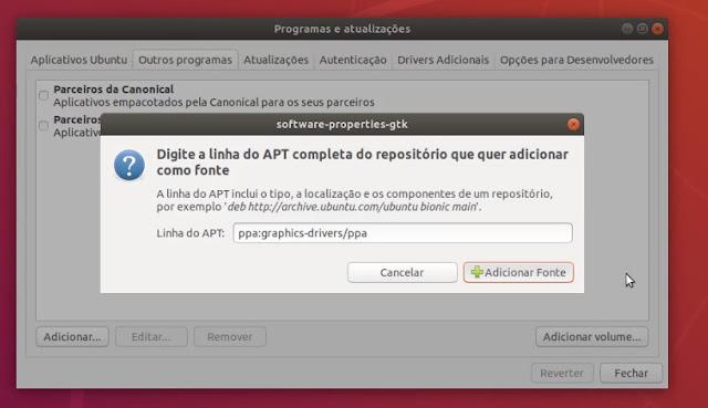 Adicionando PPA no Ubuntu