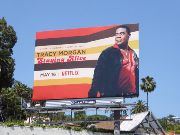 Tracy Morgan Staying Alive billboard