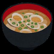 アサリのお味噌汁のイラスト