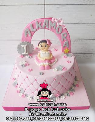 Kue Tart Fondant Anak Cewek