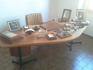 Mattei's desk is preserved at a small museum dedicated to his memory in his home town of Acqualanga