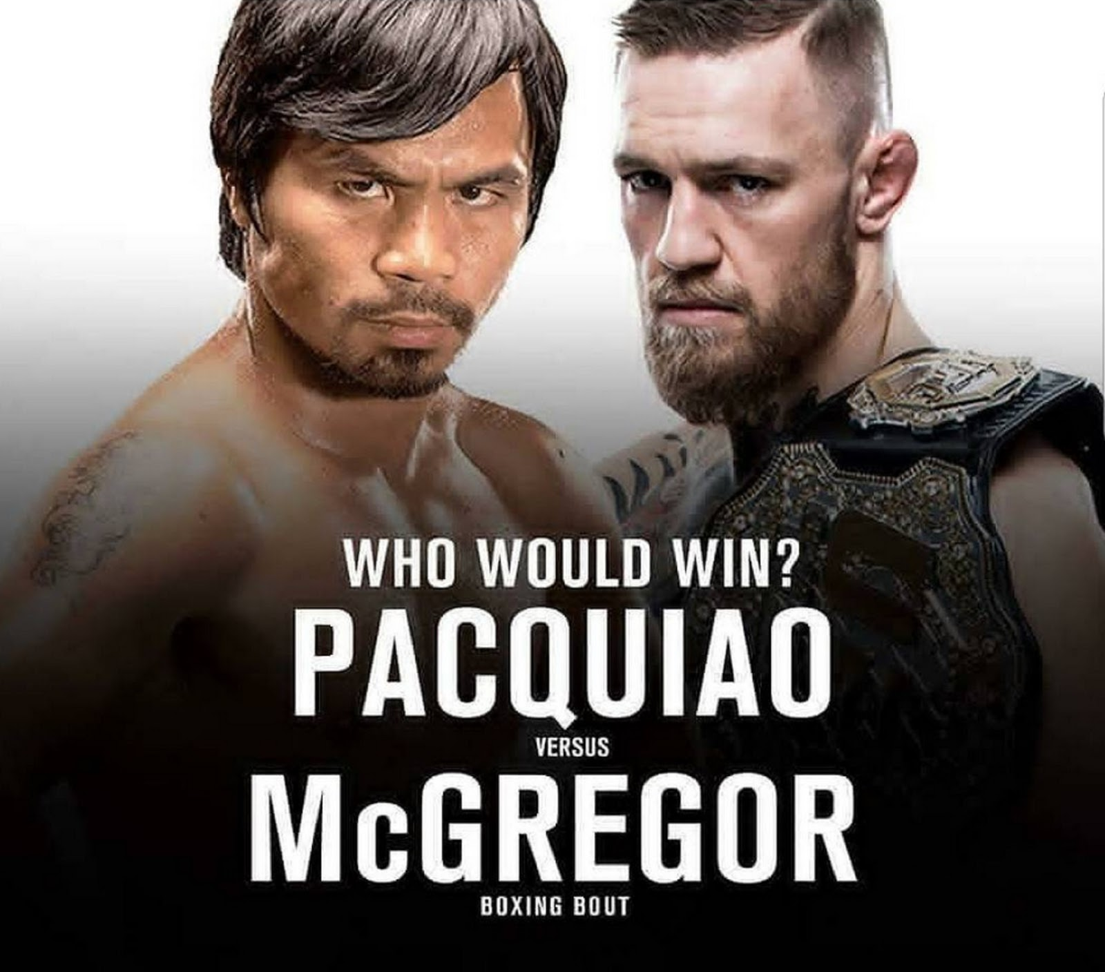 CONOR MCGREGOR VS MANNY PACQUIAO 4