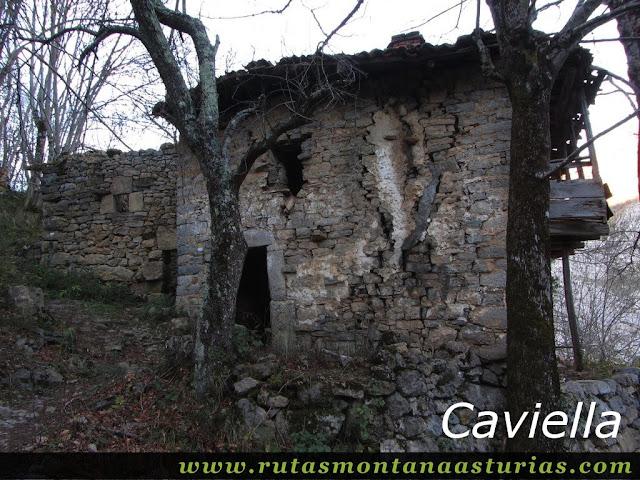 Senda Cartero, Peña Salón y Vibolines: La Caviella