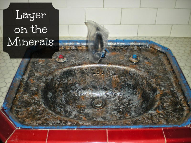 Simply diy sink basin makeover with giani granite for Can you paint granite countertops