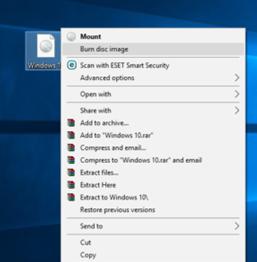 Burn ISO di Windows 10 Tanpa Software