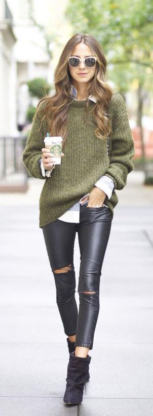 #Sweaters #Outfit #Idea Sweaters Outfit Idea You Should Try This Year