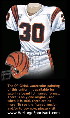 Cincinnati Bengals 1996 uniform