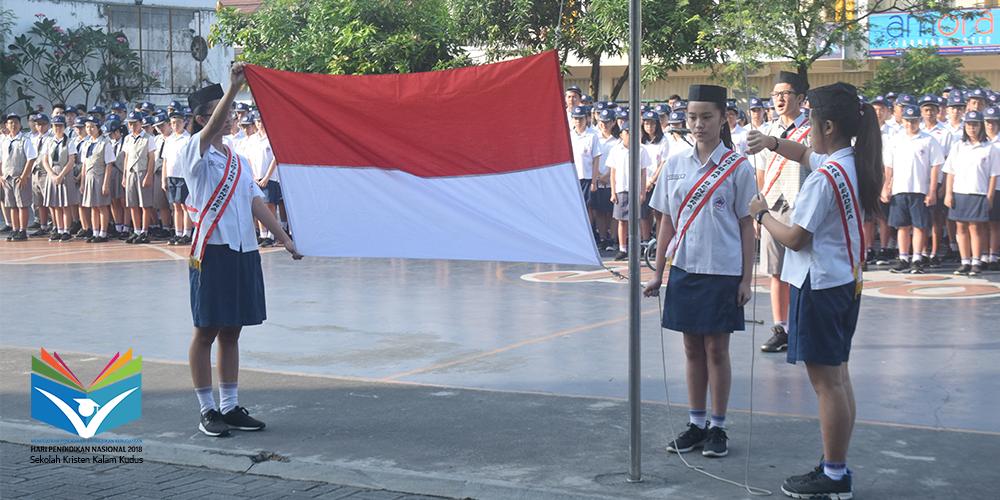 Peringati Hardiknas 2018, SMP Kristen Kalam Kudus Gelar Upacara Bendera