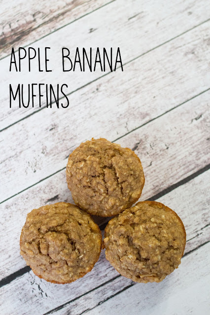 Apple Banana Breakfast Muffins