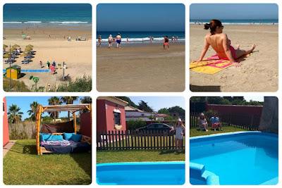 Villa con piscina privada, jacuzzi y cama balinesa y la impresionante playa de La Barrosa