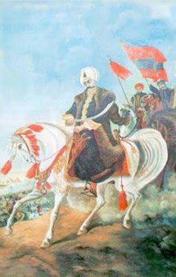 Yavuz Sultan Selim, padişah, sultan, bayrak, at, kılıç, savaş