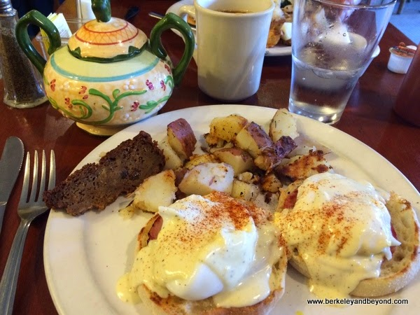 eggs Benedict at Rising Loafer in Lafayette, California