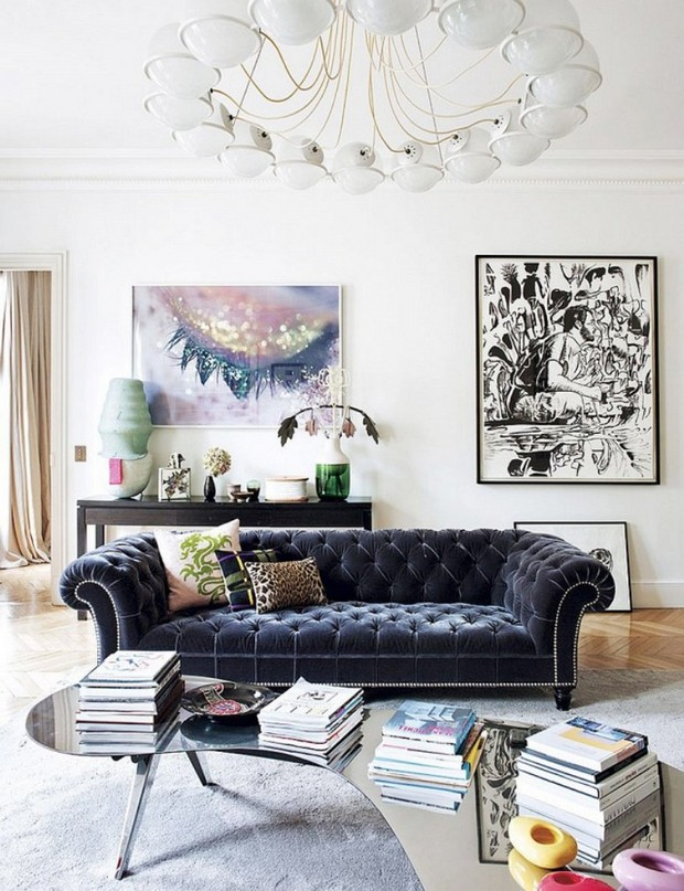 Art in Luxe Living Room