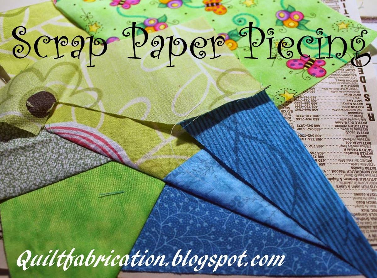 fabric scraps paper piecing phone book