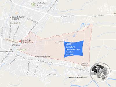 PETA Kelurahan Soklat, Kecamatan Subang