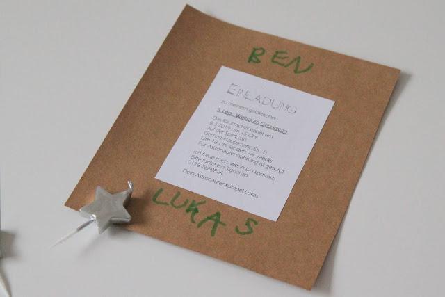 Text Star Wars Darth Vader DIY Einladungen Einladungskarten Weltraum Rakete Kindergeburtstag Jules kleines Freudenhaus