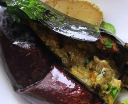 Eggplants stuffed with bonifacian