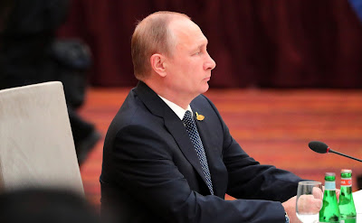 Vladimir Putin at the informal meeting of BRICS heads of state and government.