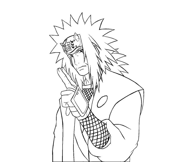 Jiraiya 13 Coloring | Crafty Teenager