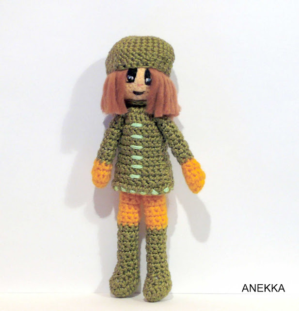 crochet doll panda anekka handmade