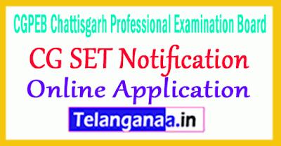 CG SET Notification 2019 Apply Online Chhattisgarh SET Online
