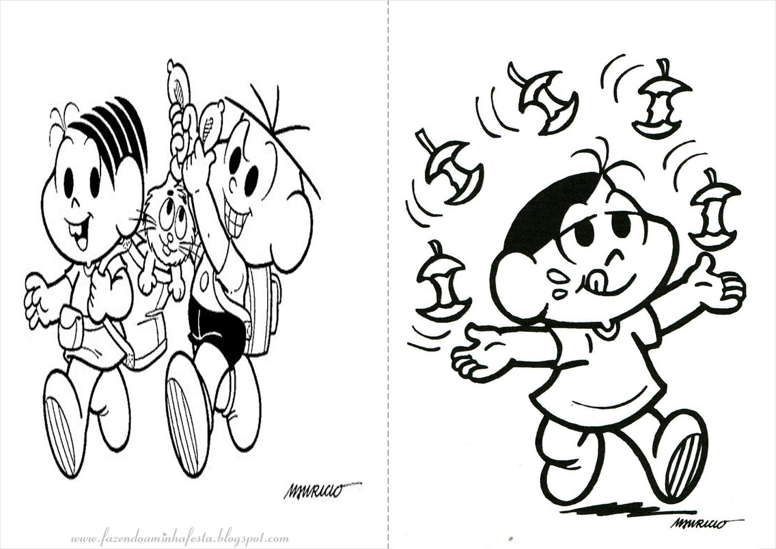 Desenho Da Turma Da Monica Jovem Para Colorir