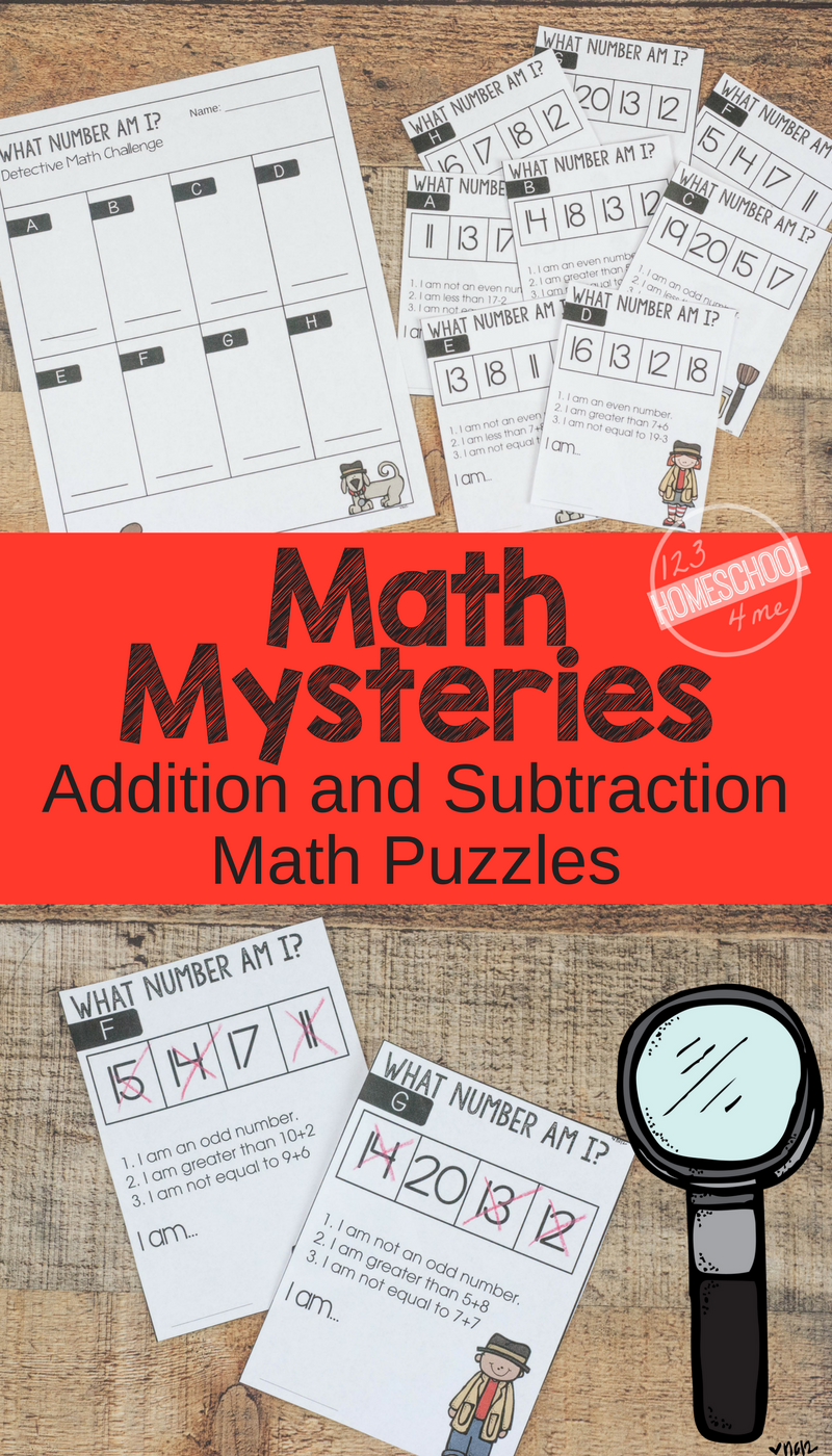 Free Math Mysteries Fun Addition And Subtraction Math