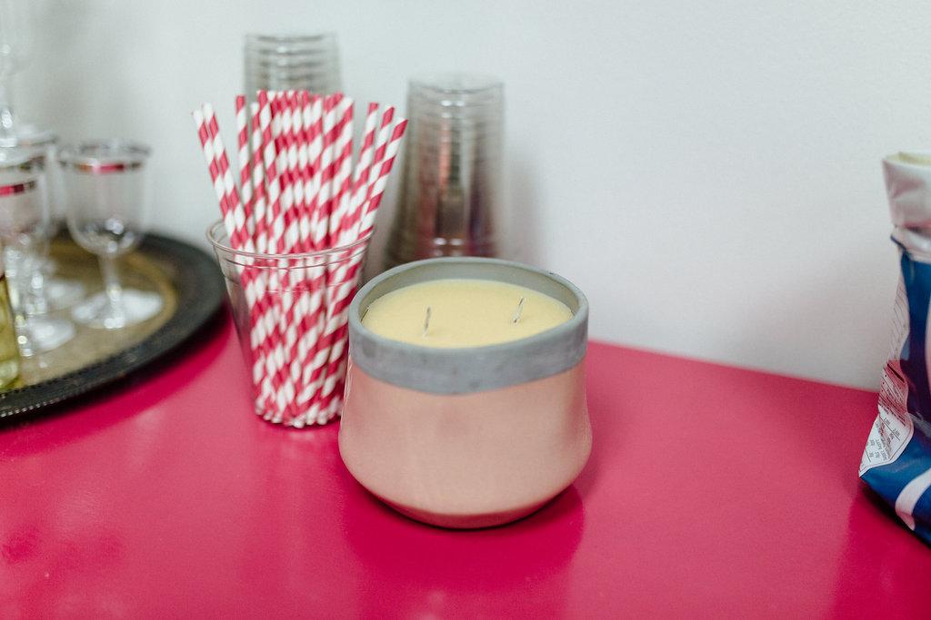 bridgewater candles, candle, pink vase