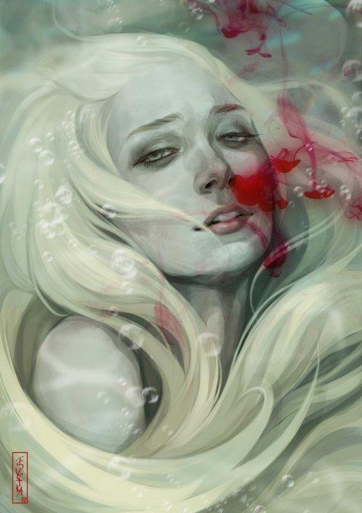 Svetlana Tigai tsvetka deviantart ilustrações mulheres fantasia