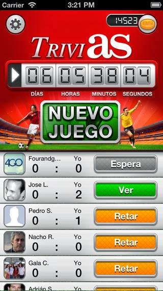 TriviAS, aplicación de preguntas de fútbol