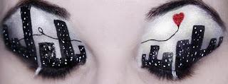 maquilla de ojos con paisaje