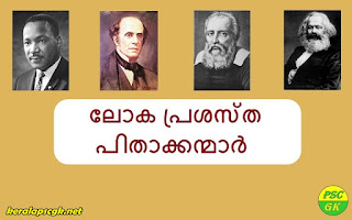 List of World famous Fathers Kerala PSC GK Questions