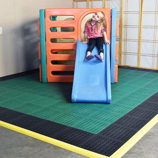 plastic playground tile for indoor playgroud Greatmats