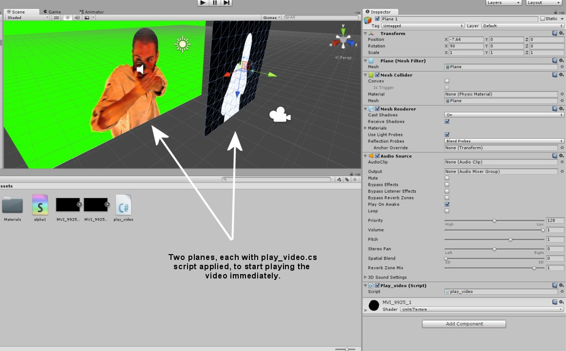 Nerd Club: Playing video with alpha transparency in Unity 5