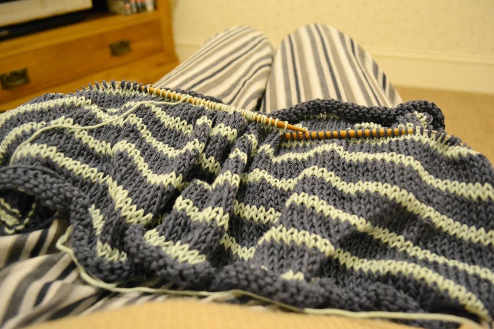 stripes knitting leger espace tricot cotton yarn