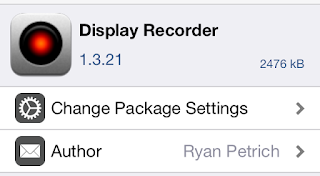 Cara Merekam video di iphone menggunakan cydia tweaks dispaly recorder